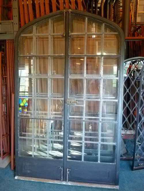 doors with windows. Vintage French Doors  Windows And Steel and