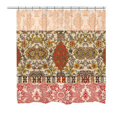 Laural Home Red Spice Bohemian Tapestry Shower Curtain