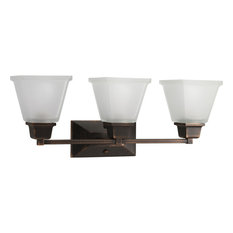 North Park Collection 3-Light Bath Light, Venetian Bronze