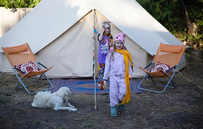 A Family Summer Camp in Their Own Backyard