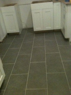 The Light Gray Grout Looks Good With It