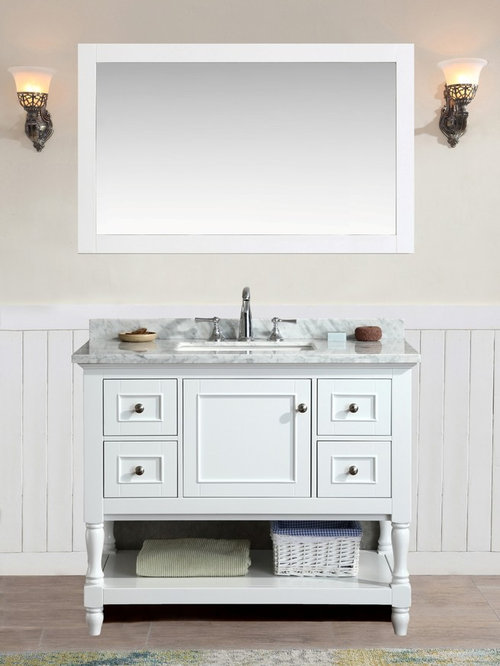 "New 42"" Cape Cod Bathroom Vanity - White"