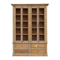 Marcus French Country Reclaimed Wood Double Bookcase