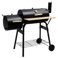 Costway Outdoor BBQ Grill Charcoal Barbecue Pit Patio Backyard Meat Cooker
