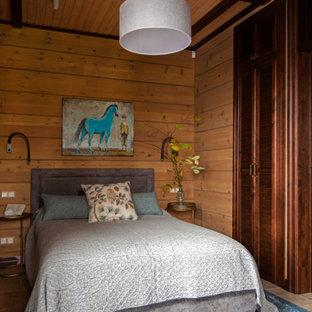 На фото: спальня в стиле рустика