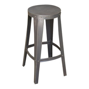 Industrial Loft Tool Shop Stool, Gray, Large