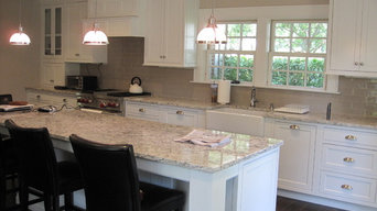 White Beaded Inset Kitchen