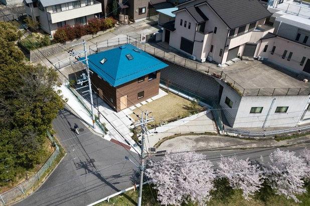 コンテンポラリー 家の外観 by 山本嘉寛建築設計事務所  YYAA