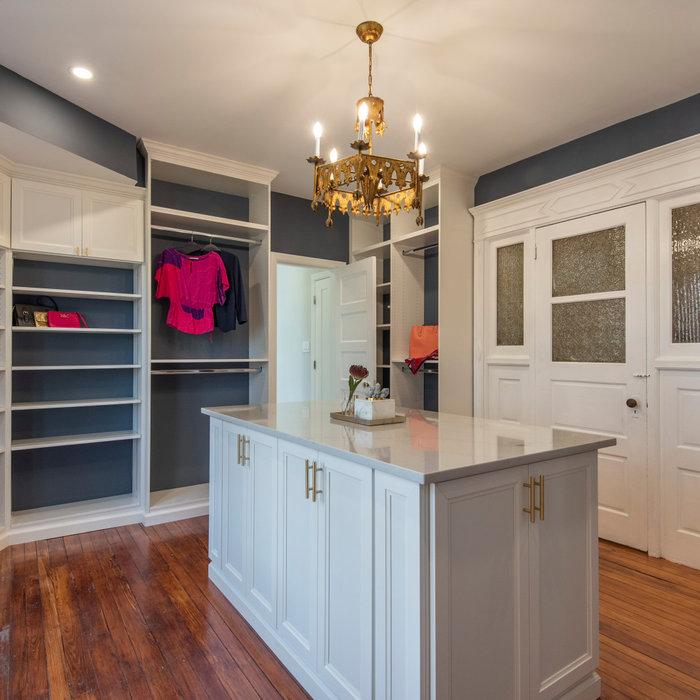 Beautiful custom closet with center island