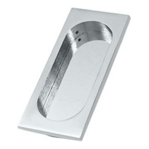 Deltana FP4134 3-7/8 Inch Tall Pocket Door Flush Pull