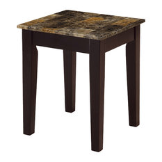 Acme Celestial Faux Marble End Table Cherry