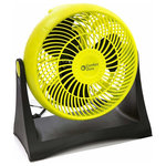 """Comfort Zone - 8"""" High Vel Turbo Fan, Lime - TurboPowered Table Top Fan (10"""") - Adjustable Tilt Angle - Quiet yet Powerful Motor- Portable and Fashionable Desk Fan for Home or Office - By Comfort Zone"""