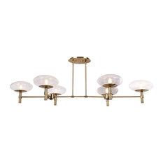 Grand 6 Light Chandelier in Brushed Brass