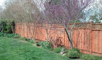 Redwood Fence with Lattice
