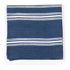 Tuscan Stripe Linen Napkin, Navy