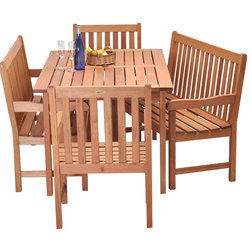 Simple Tropical Outdoor Dining Sets by International Home Miami Corp