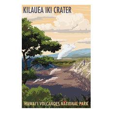 """""""Kilauea Iki Crater, Hawaii Volcanoes National Park"""" Print, 16""""x24"""""""