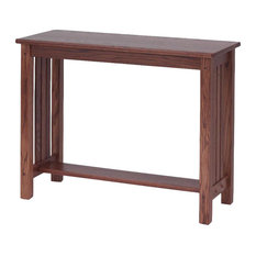 Mission Style Solid Oak Sofa Table, Autumn Oak