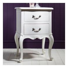 Frank Hudson Chic Chalk Bedside Cabinet
