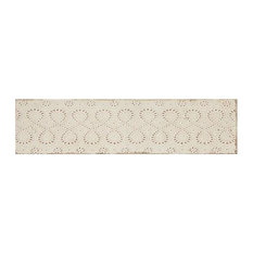 Annie Selke Artisanal Cream Lace Ceramic Wall Tile 3 x 12 in.