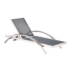 Set of 2 Modern Outdoor Aluminum Lounge Chaise Patio Heavy Duty Furniture