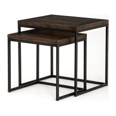 SOVO English Brown Nesting End Tables
