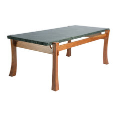 granite coffee table. Michael P. McDunn Handcrafted Heirloom Furniture - Coffee Table, Natural Edge Granite And Cherry Table