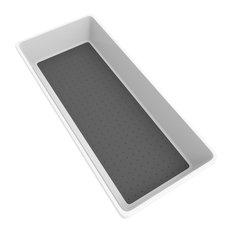 Lavish Home Plastic Drawer Storage Bin for Kitchen or Office