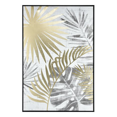 Coconut Grove Wall Accent in White And Grey With Gold