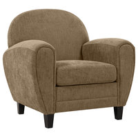 Hopkins Modern Club Chair, Mocha Brown Herringbone