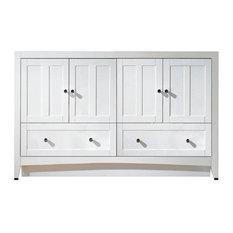 58.75 in. Modern Vanity Base Set in White