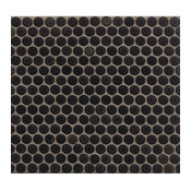 Charcoal 3/4 Penny Rounds Mosaic Matte Charcoa