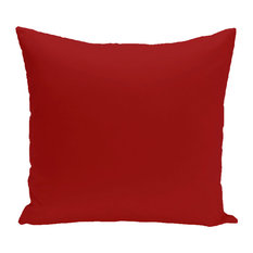 "Solid Print Pillow, Red, 20""x20"""