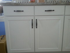 Thermofoil white cabinets what do you think for Thermofoil cabinets