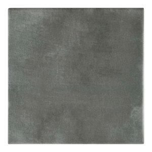 "5.88""x5.88"" Guild Ceramic Floor/Wall Tiles, Set of 22, Antracita"