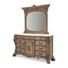 AICO Villa di Como Dresser With Mirror, Heritage