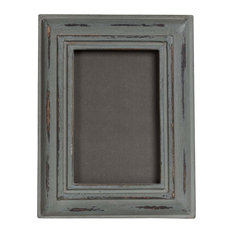 Distressed Wooden Picture Frame, Grey, 20x20 cm