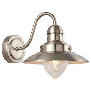 Mendip Single Satin Nickel Wall Light