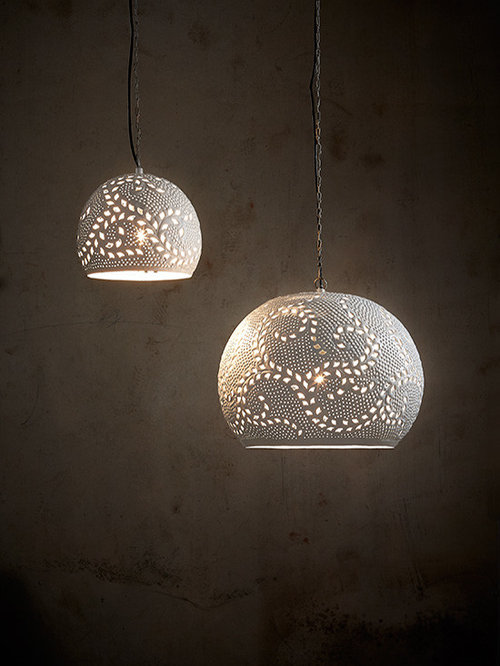 Perforated Pendant Lights