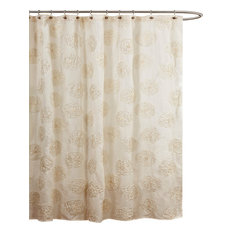 Lush D_cor   Samantha Ivory Shower Curtain   Shower Curtains