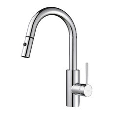 designer kitchen faucets. Kraus USA  Inc Oletto 1 Handle Pull Out Kitchen Faucet Contemporary Faucets Top Reviewed of