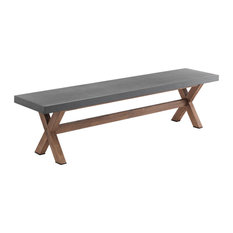 Tadao Concrete and Wood Bench
