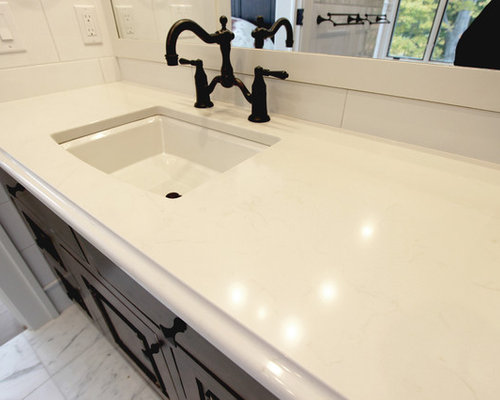 Bathroom Quartz Countertops new construction bathroom white quartz countertops ~ medina, oh
