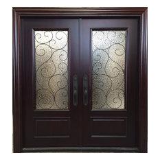 rustic double front door. Global Entry Doors - Mahogany Double 6\u0027x8\u0027 With 2 3/ Rustic Front Door