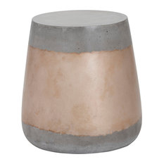 Aries Side Table, Concrete, Gold