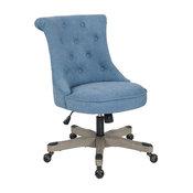 Hannah Tufted Office Chair, Sky