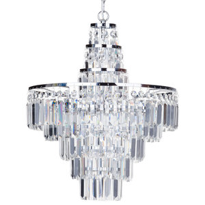Vasca Crystal Bar 4 Light Bathroom Chandelier, Chrome