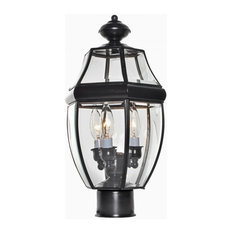 Maxim South Park 3-Light Outdoor Post Lantern in Burnished - 6097CLBU