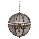 """Kalco - Coronado 28.5""""x36"""" 8-Light Farmhouse Chandelier by Kalco - From the Coronado collection  this Farmhouse 28.5Wx36H inch 8 Light Chandelier will be a wonderful compliment to  any of these rooms: Dining Room; Bedroom; Kitchen; Foyer"""