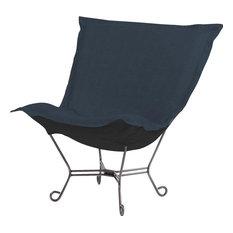 Puff Chair HOWARD ELLIOTT Dark Blue Sterling